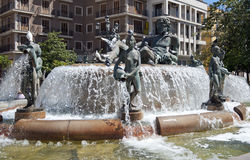 fontanny turia Valencia zdjęcia stock