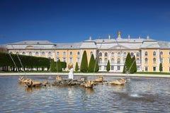 fontanny uroczysty dębowy pałac peterhof Obraz Royalty Free