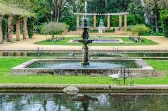 Fontanny w Maria Luisa parku w Seville, Hiszpania Obraz Stock