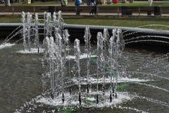 Fontanny w miasto parku Obraz Royalty Free