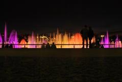 Fontanny w nocy dwa Obraz Stock