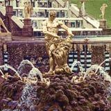 Fontanny w Petergof parku Fontanny Samson Zdjęcia Royalty Free