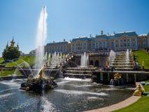 Fontanny w Peterhof Fotografia Royalty Free