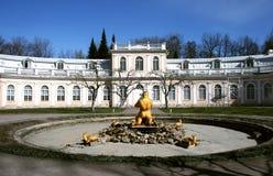 Fontanny w Petrodvorets Peterhof, święty Petersburg, Rosja Obrazy Stock