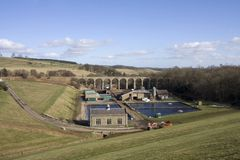 Fontburn Reservoir and water treatment works Stock Images