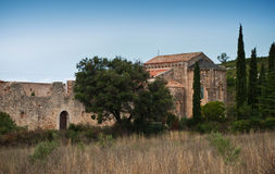 Fontcaude abbey. In Languedoc-Roussillon - France stock photography