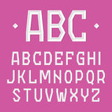 Fonte à moda, alfabeto Fotos de Stock Royalty Free
