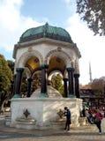 Fonte alemão bonita no hipódromo de Constantinople Sultan Ahmet Square Istambul, Turquia imagens de stock royalty free