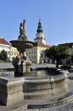 Fonte & castelo de Kromeriz Imagens de Stock Royalty Free