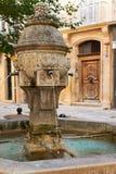 Fonte antiga em Provence Fotografia de Stock