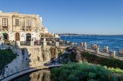 Fonte Aretusa em Ortigia em Siracusa fotos de stock royalty free