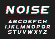 Fonte audace decorativa con rumore digitale, distorsione, effe di impulso errato Immagine Stock Libera da Diritti