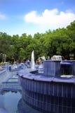 Fonte azul imagens de stock