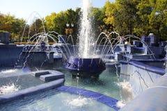 Fonte azul em Subotica foto de stock royalty free