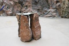 Fonte battesimale nella chiesa della roccia di temppeliaukio a Helsinki, Finlandia Fotografia Stock Libera da Diritti