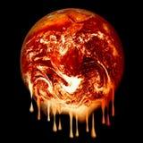 Fonte brûlante de la terre Photographie stock