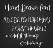 Fonte caligráfica tirada mão do vetor Alfabeto feito a mão da tatuagem da caligrafia ABC Rotulação inglesa, lowercase, caixa Imagem de Stock Royalty Free