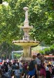 A fonte central no jardim zoológico de Barcelona Fotografia de Stock Royalty Free