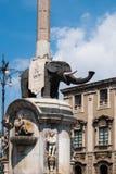 A fonte chamou Liotru, Catania, Sicília fotografia de stock royalty free