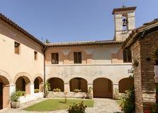 Fonte Colombo Franciscan klosterkloster, Rieti royaltyfria bilder
