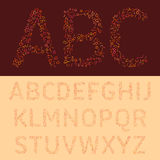 A fonte colorida das letras Imagens de Stock