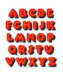 Fonte comica audace di stile di scarabocchio Alfabeto di vettore illustrazione vettoriale