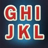 Fonte costurada G-L da tela Imagem de Stock