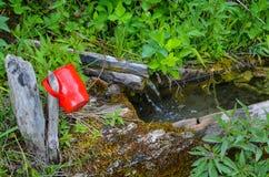 Fonte d'acqua della montagna Immagini Stock