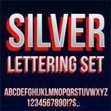 Fonte d'argento rossa immagine stock