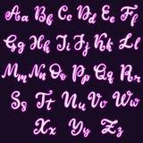 Fonte d'iscrizione disegnata a mano, alfabeto royalty illustrazione gratis