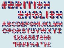 Fonte da bandeira de Reino Unido Fotos de Stock Royalty Free