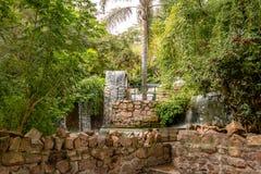Fonte da cachoeira de Cerro San Bernardo Hill - Salta, Argentina imagens de stock royalty free