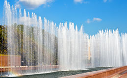 A fonte da cidade no parque Foto de Stock Royalty Free