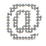Fonte da rede de arame do metal NO SINAL 3D Fotografia de Stock