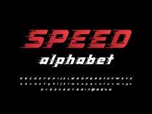 c49f0fcbc Fonte Do Alfabeto Da Velocidade Tipo Letras E Números Do Efeito De ...