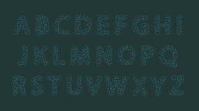 Fonte dai rettangoli grigio blu verdi Fotografia Stock Libera da Diritti
