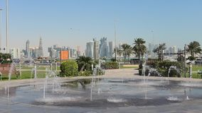 Fonte de água de Doha video estoque