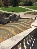 Fonte de água no parque de Ault imagem de stock royalty free