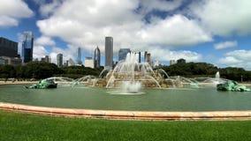 A fonte de Buckingham é um marco de Chicago video estoque