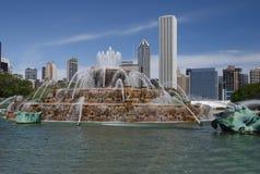Fonte de Buckingham, Chicago Ilinois foto de stock royalty free