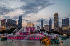 Fonte de Buckingham em Grant Park, Chicago Fotografia de Stock