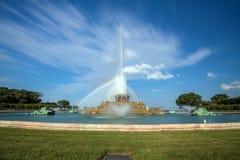 Fonte de Buckingham no parque de Grant, Chicago, EUA Foto de Stock Royalty Free