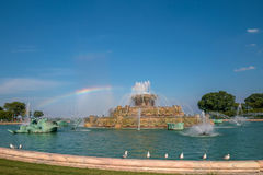Fonte de Buckingham no parque de Grant, Chicago, EUA Imagem de Stock