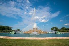 Fonte de Buckingham no parque de Grant, Chicago, EUA Fotografia de Stock