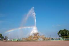 Fonte de Buckingham no parque de Grant, Chicago, EUA Imagens de Stock Royalty Free