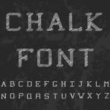 Fonte de Chack Letras latinos impressas grande preto Fotografia de Stock