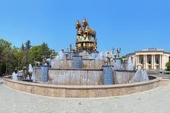 Fonte de Colchian no quadrado central de Kutaisi, Geórgia fotografia de stock royalty free