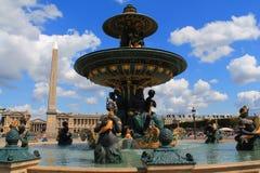Fonte de Concorde em Paris, França Fotos de Stock Royalty Free