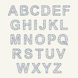 Fonte de cristal da textura Alfabeto do vetor com letras latin Fonte do mosaico ilustração royalty free