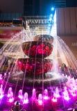 Fonte de cristal na frente da alameda do pavilhão, Kuala Lumpur Fotografia de Stock